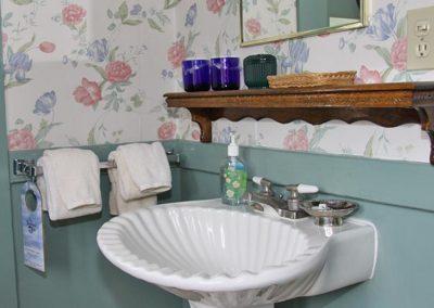 Carrigan in room basin