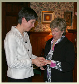 Lesbian wedding at Notchland Inn