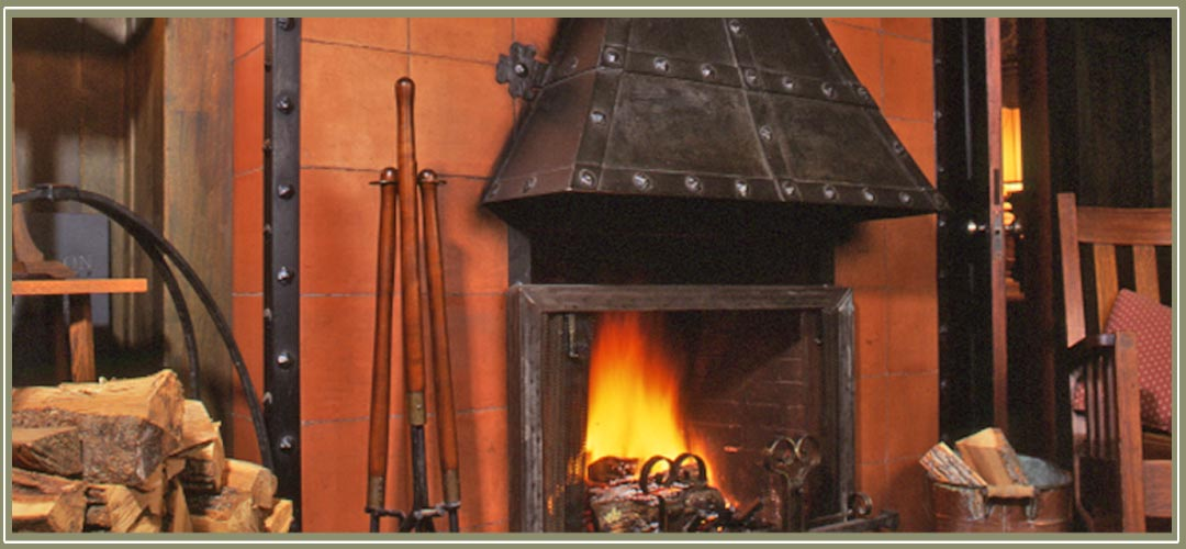 Stickley fireplace at historic Notchland Inn