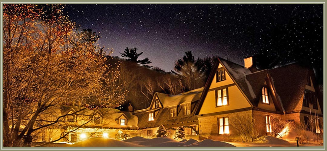 Magical winter night at Notchland