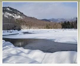 Enjoy this mountain view from Bear Notch Ski Touring trails